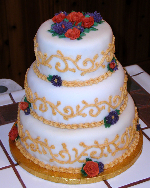 Strange Colors for a Wedding Cake - another view