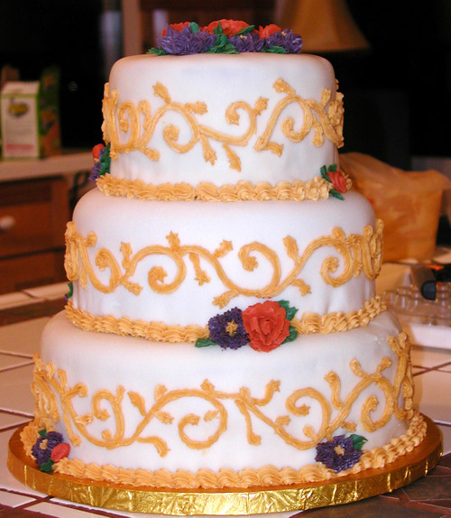Strange Colors for a Wedding Cake