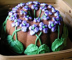 Violet Pound Cake